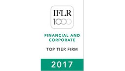 IFLR 1000 – Financial and Corporate Top Tier Firm 2017